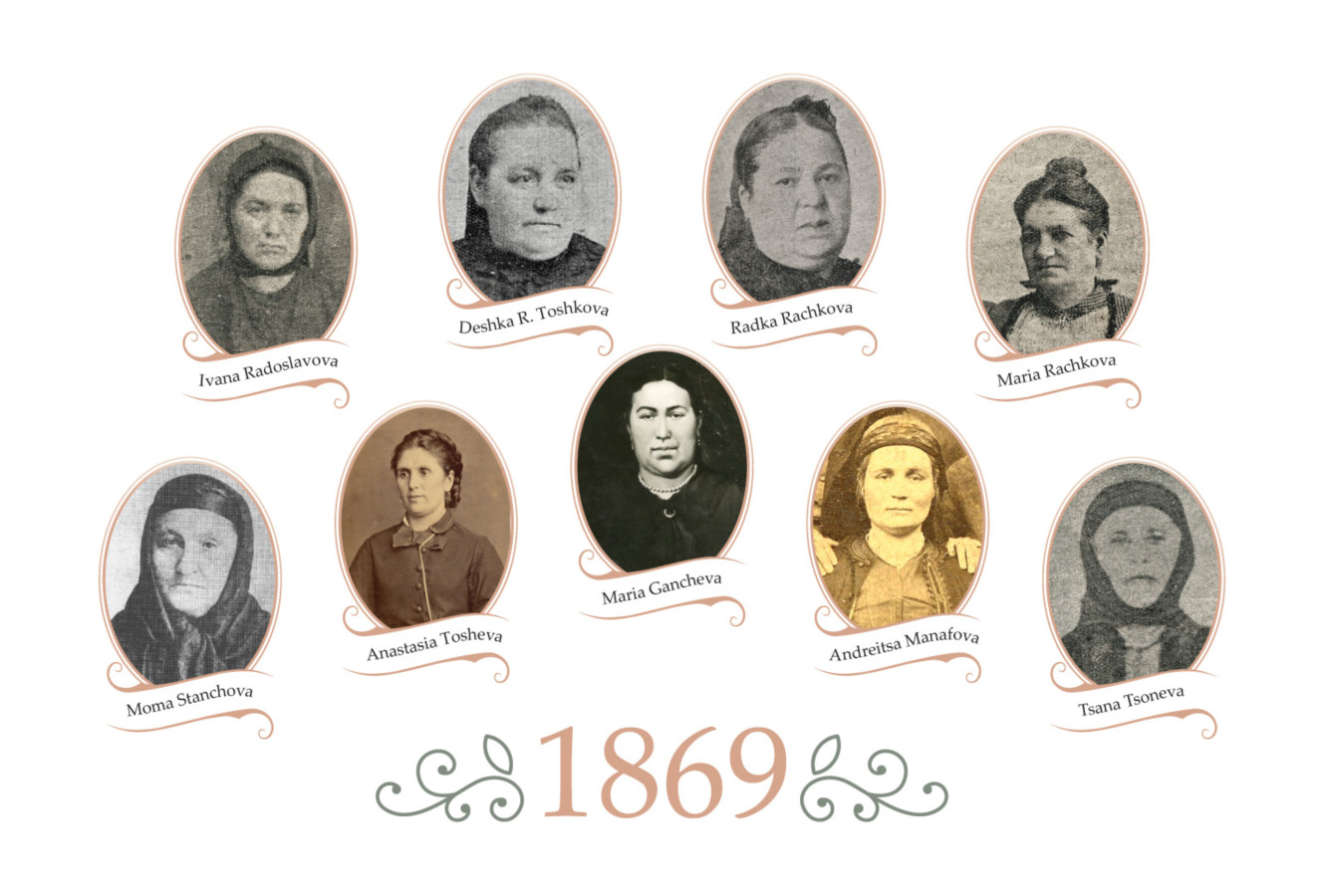 "Some of the first members of Women's Charity Society ""Mother's Love"" (Women's Charitable Society ""Mother's Care"")."